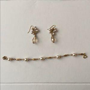 Bracelet and Drop Earrings